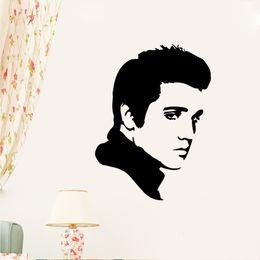 Wholesale Elvis Presley Planes - ELVIS PRESLEY Wall Sticker Decal Vinyl silhouette wall art mural poster Window Vinyl Wall Sticker Home Decor