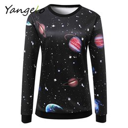 Wholesale Galaxy Cosmic - Wholesale- Free Shipping 2016 Autumn Winter Women Sweatshirts cosmic space galaxy star Printed Tracksuits Hoodies