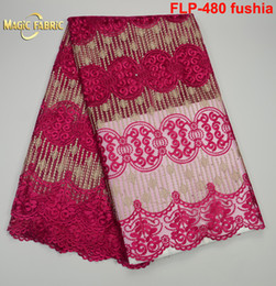 Wholesale Wholesale Net Fabrics For Women - African Lace Fabric 2017 High Quality New Arrival African French Net Lace Fabric Embroidery Lace For Nigerian Women FLP-480