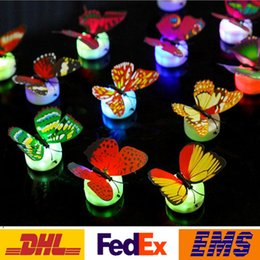 Wholesale Wedding Supplies Butterfly Decorations - Led Colorful Butterfly Night Light Indoor Flashing Wall Lights Wedding Bar Room Christmas Party Festive Decoration Supplies PX-T09