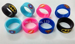 Wholesale Super Heroes Silicone - New Design Vaporizer Super Hero Vape Band Rubber silicon ring for DIY Tank Mod custom silicone vape bands