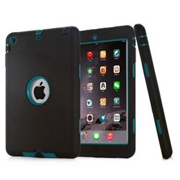 Wholesale Tpu Silicone China - New Style Armor Shockproof Heavy Duty Silicone Hard Case Cover for iPad 2 3 4 air air2 mini 1 2 3