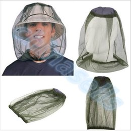 Wholesale Protector Hat - fishing Midge Mosquito Insect Hat Bug Mesh Head Net Face Protector Travel Camping outdoor gear kit