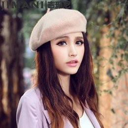 Wholesale Beret Winter Girl - 2017 Brand New Casual High Quality Cashmere Wool Hat For Women Hot Womens Fashion Knit Dress up Hats For Girls Berets hat