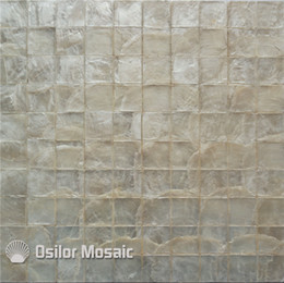 Argentina Patrón cuadrado color blanco 100% capiz shell madreperla mosaico para azulejos de la sala de estar CS06 Suministro