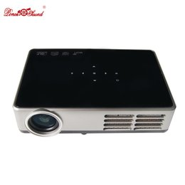 Wholesale Hd Projektor - Wholesale-Full HD New Android Smart Mini Projector LCD 3D WIFI Home Theater Proyector Beamer DLP Projektor 1080p HDMI USB VGA AV