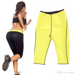 Wholesale Knee Length Pants For Women - 20pcs Hot Sweat Neoprene Shapers Control Leggings Slimming Pants Thigh Cincher Girdle Sport Gym Trousers for Women Sizes Run Small Limited