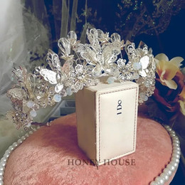 Wholesale Resin Bows - Bow Tiaras & Hair Accessories With Earring 2 Pieces Wedding Accessories Bridal Wedding Quality Tiara Crystal Luxury Princess Crown