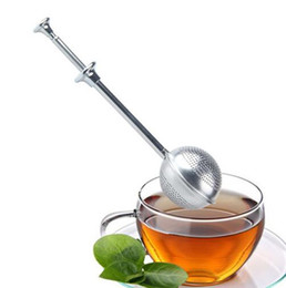 box casting Promo Codes - Stainless Steel Locking Spice Tea Ball Strainer Mesh Infuser tea strainer Filter infusor