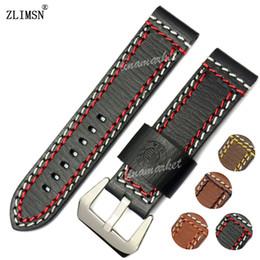 Wholesale Vogue Watch Bracelet - Wholesale-ZLIMSN 24mm Watch BAND Strap Manual Genuine Leather Watchbands MenS Belt Vogue Thicken Metal Buckle Relojes Hombre 2016