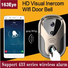 Wholesale Doorbell Rings - 720P HD Wireless Doorbell 3G 4G Wifi Camera + Indoor Bell Intercom System IR Night Vision Home Improvement Visual Door Ring