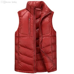 Wholesale Down Vest Men - Wholesale-2016 New Brand Sleeveless outwear Jacket Outdoor quick dry waterproof and windproof Casual Down Vest Men's Vest
