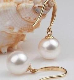 Wholesale Pearl Earring Stud Akoya Gold - Charming AAA 9-10 MM AKOYA WHITE PEARL EARRING 14K GOLD