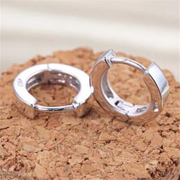 Wholesale African Hoop Earrings - Woman Men's Punk Stainless Steel Small Hoop Huggie Piercing Clip Earrings Ear Studs jewelry for friend birthday gift
