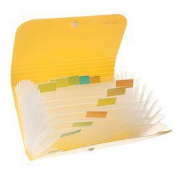 2019 pastas de fotos em papel Arquivo de documento de pasta saco caso Bills Receipts Bolsa Cartão Titular Organizador 17.7x11.8x2.3cm fontes de escola Azul Verde Rosa Amarelo