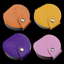 pasta de arte Desconto Novo 24 Slots de Couro Nail Art Stamping Placa Caso / Saco / Pasta Prego Selo Template Holder Álbum de Armazenamento para o Dia 5.6 cm Estêncil ZA1644