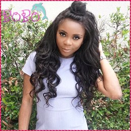 Wholesale Real European Lace Wigs - Malaysian Real Virgin Human Hair Tangle Free Loose Wavy Full Lace Human Hair Wig Baby Hair Perimeter 8-26 Inch Wave Wig In Stock