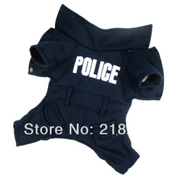 Wholesale Pets Clothing China - New Cute Dark blue English police Pet Dogs Coat Free Shipping By china post Dogs clothes