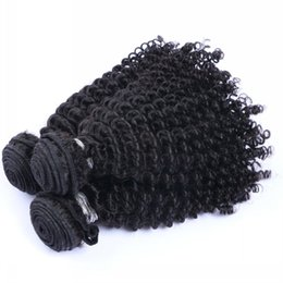 Wholesale Top Quality Remy Brazilian Hair - Top Quality Kinky Curly Unprocessed Peruvian Malaysian Indian Brazilian Human Hair Natural Black Kinky Curly Remy Virgin Human Hair Weaves