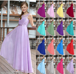 Wholesale Teenage Girl Lace Dresses - Children Wedding Princess Dress for girls teenage big college Lace sleeveless long maxi party ceremony perfomance Costume