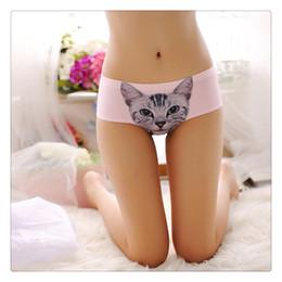 katze damen unterwäsche Rabatt Sex Höschen 3D Katze Höschen Sexy Damen Unterwäsche Nette Mittlere Taille Unterwäsche Comfort Briefs Tier Höschen Für Frauen Freies Verschiffen