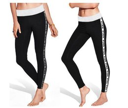 Wholesale Girl Harem Trouser - VS Love Pink Leggings Women Jogger Harem Pants Fitness Sweatpants Pencil Trousers Teen Girls leggings