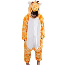 Wholesale Boys Pajamas Size 3t - Children's Jumpsuit Kids Clothes Cartoon giraffe Pajamas Kids Winter Warm Animal Tracksuit Big Girl Boys SY013