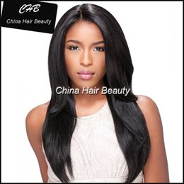 Wholesale Glue For Lace Wigs - Glue Full Lace Human Hair Wigs Unprocessed Brazilian Virgin Hair Straight Glueless Lace Wig for Black Women
