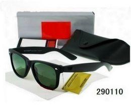 Wholesale Hinge Boxes - AAA +Top Quality Glass Lens Metal Hinge Brand Designer Fashion Men Women Plank Frame Sunglasses UV400 Vintage Sun Glasses With Box Cases B58