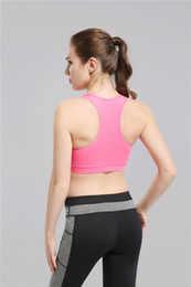 Wholesale Dance Fitness Top - 2017 New Pink Yoga Bra Fashion Quick Dry Sportswear Womens Tops Fitness yoga sports bra Compression Dance Clothing Free Drop Shipping gally