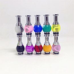 Wholesale Mouthpiece For Ecigarette - Wholesale- 20pcs Stainless Steel Acrylic Hybrid Ming Vase 510 DripTips colorful mouthpiece for Nova UDCT Glass Protank Ecigarette atomizer