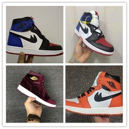 Wholesale High Ankle Men Shoes - 2017 Top Quality Retro 1 Men Basketball Shoes Retro OG High Ankle Shattered Backboard Away Sports Shoes