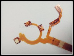 Wholesale Wholesale Fuji Digital Camera - 5PCS  NEW Lens Shutter Aperture Flex Cable For Fuji Fujifilm XF-1 XF1 Digital Camera Repair Part With socket