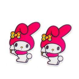 Wholesale Rabbit Jewelry Box - Japanese Style Melody Rabbit Resin Planar Cartoon Girls Boys Flatback Cabochons DIY Party Jewelry Craft Embellishment 30Pcs lot