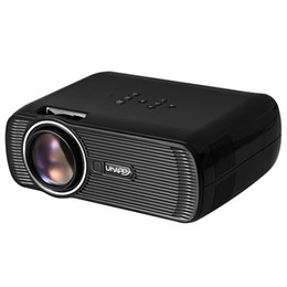 Wholesale Focus Vga - Wholesale- Uhappy U80 LCD Projector 16:9 1000LM 800 x 480 Pixels with AV Audio HDMI VGA USB 2.0 SD Card Slot Focus from 37 to 130 inches