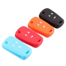 Wholesale Chevrolet Hatchbacks - NEW Hot silicone car key cover 3 button for Chevrolet Cruze 2009-2014 sedan hatchback accessories car key cover case