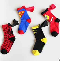 Wholesale Carnival Costumes For Kids - 2017 The Newest Style Superhero Cartoon Children Teenager Stage Performance Middle Stockings For Kids Boys Girls 4-6 Years