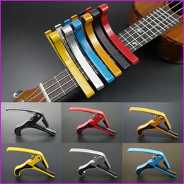 2019 гитарный зажим capo 6 цветов новое прибытие гитара челюсти Капо зажим для электрических и акустических Туба гитара триггер релиз бесплатная доставка дешево гитарный зажим capo