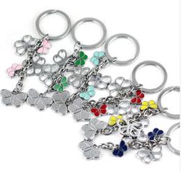 Wholesale Cute Butterfly Keychain - pretty color butterfly keychain cute key ring for women high quality key chain key holder creative portachiavi chaveiro llaveros mujer