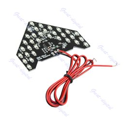 Wholesale Led Arrow Signals - Wholesale-33 SMD LED Arrow Panels For Car Side Mirror Turn Signal Indicator Light Yellow