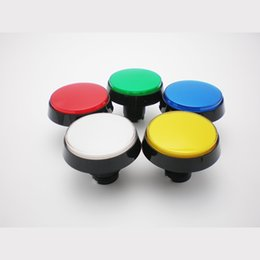 Wholesale Arcade Illuminated Push Button - Free shipping Arcade game parts accessories 60mm illuminated push button with microswitch led five colors available
