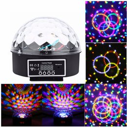 Wholesale Magic Ball Dmx 512 - New Arrival Mini Voice-activated Disco DJ Stage Lighting LED RGB Crystal Magic Ball 6CH DMX 512 light 20W KTV Party 20pcs lot Freeshiping