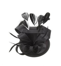 Wholesale Champagne Bridal Hats - Free Shipping Hot Sale black Bird cage Net Wedding Bridal Fascinator Hats Face Veil Feather black Flower for party accessory