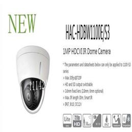 Wholesale Dome Infrared Cctv Camera - Free Shipping DAHUA CCTV 1MP 720P HDCVI IR Dome Camera IP67 IK10Smart IR Without Logo HAC-HDBW1100E S3