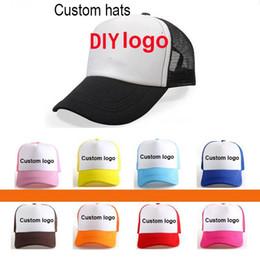 Wholesale Advertising Caps - Custom cap Fashion Trucker Cap Mesh Caps Advertising hats election Snapbacks caps Men Women Kids customization Sun casquette Hat Customed