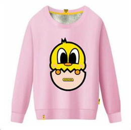Wholesale Fleece Set Boy - SUGU new cartoon eggshell girlfriends with round colla boy stu r add wool fleece set of qiu dong