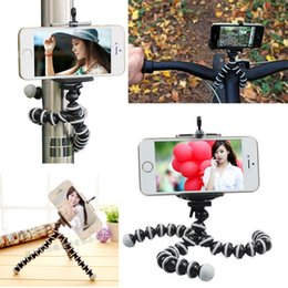 Wholesale Mini Octopus Flexible Camera Tripod - Universal Octopus MINI Tripod Stand Flexible Gorillapod Tripods Stander for GoPro Camera iPhone Android Phone Tripod Stand Mount With Holder