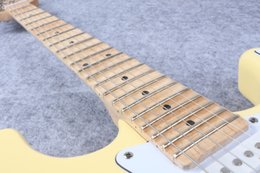 Wholesale cream color tremolo electric guitar maple Scalloped Fingerboard Yngwie Malmsteen big head strat Electric Guitar