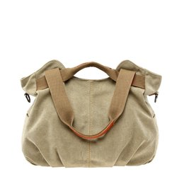 Wholesale Hobo Tote Shoulder Shopper Bag - Women's Casual Vintage Hobo Canvas bags Daily Purse Top Handle shoulder bag Tote Shopper Handbag women messenger bags