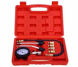 Wholesale Peugeot Compressor - 9 PCS Leakage Diagnostic Petrol Gas Engine Cylinder Compressor Gauge Meter Test Pressure Compression Tester